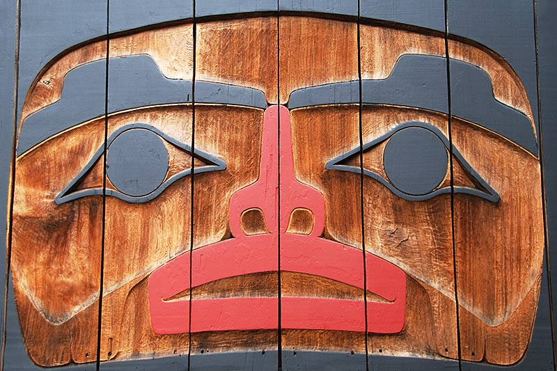 Carving at Eagle Aerie Gallery, Ucluelet, Vancouver Island, British Columbia