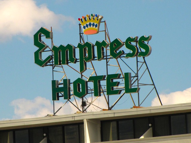 Empress Hotel sign