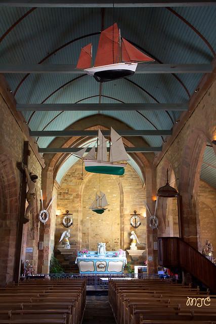 Intérieur de la chapelle N. D. de Rocamadour à Camaret...