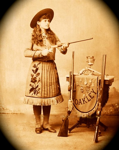 Annie Oakley with Stevens Rifle