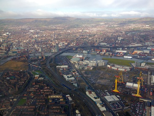 Belfast from the air. Stunning.