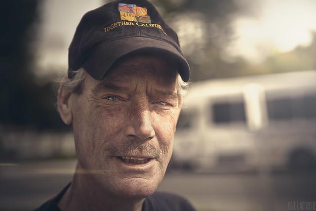 Portrait of Edwyn - Veteran of Iraq - Homeless - Ill with PTSD - San Diego - 2010 6th December