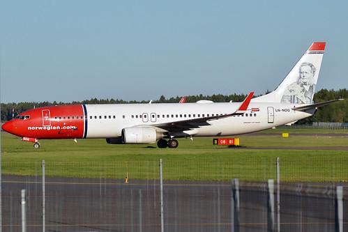 Norwegian (Henrik Ibsen livery), LN-NOG, Boeing 737-86N | by Anna Zvereva