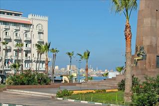La corniche à Alexandrie (Egypte)