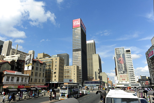 View of Joburg inner city from Gandhi Square, Johannesburg, Gauteng, South Africa | by South African Tourism