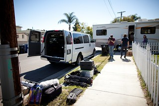 Manfrotto Be Free Tripod ad shoot BTS - The van and some gear | by The Bui Brothers