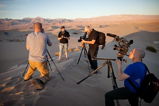 Manfrotto Be Free Tripod ad shoot BTS - Mesquite Sand Dunes | by The Bui Brothers