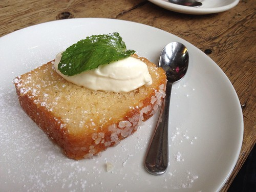 Delicious lemon drizzle cake with sour cream and mint | by Texarchivist