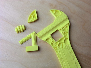 Fully assembled 3D printable wrench | by Creative Tools
