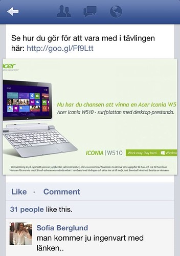 Acer Facebook competition | by kullin