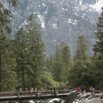 The bridge at Yosemite Falls