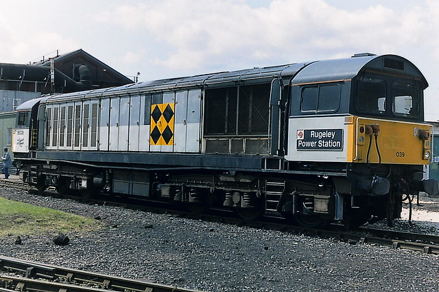 Class 58 58039 in Railfreight  livery at Doncaster Works