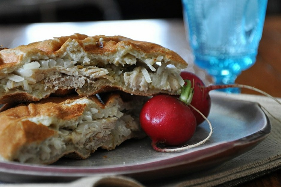 Chile Verde Chicken Torta