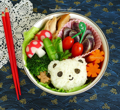 Panda Rice and Chicken Bento | by sherimiya ♥