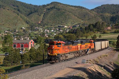 railroad train colorado bnsf rampartrange palmerlake emd coaltrain sd70ace jointline palmerdivide bnsf8492