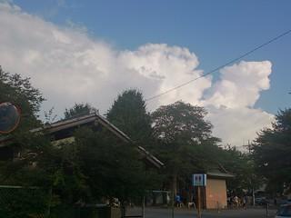入道雲とともにお囃子の練習始まりました。 | by Norisa1