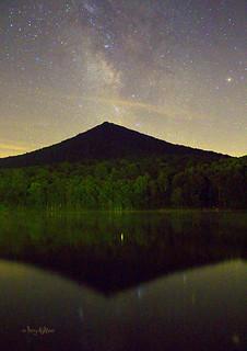 Milky Way Reflections On Abbott Lake