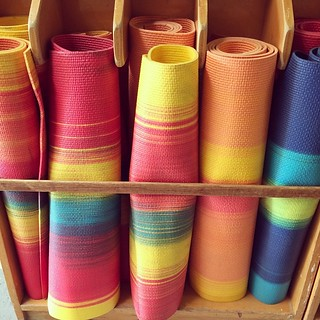 Yoga mats at my daughter's Montessori school | by cheeseslave