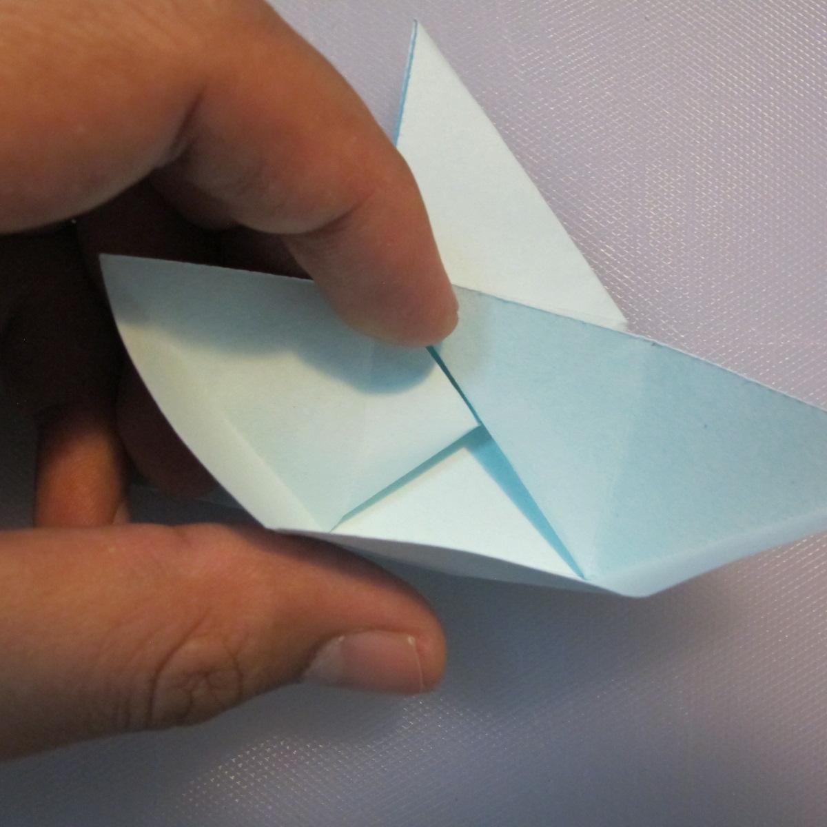การพับกระดาษรูปดาวกระจาย (Star Origami – スターの折り紙) 013