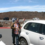 Arriving at top of the crater, Maui