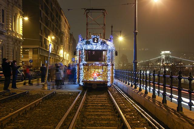 Christmas tram in Budapest 35