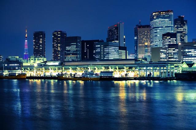 Tsukiji Fish Market at Night