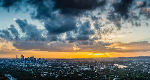 city sunrise nikon cloudy australia brisbane queensland mountcoottha d7100 petherbridge sampetherbridge spetherbridgecom