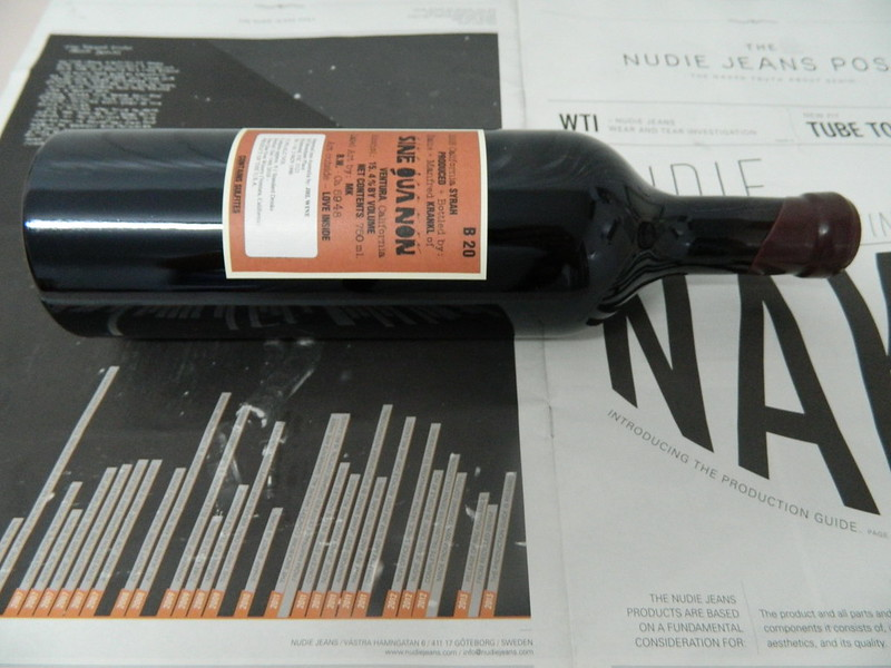 SINE QUA NON ' b20' Syrah 2008 - Cult Wine w/ Nudie Backing!