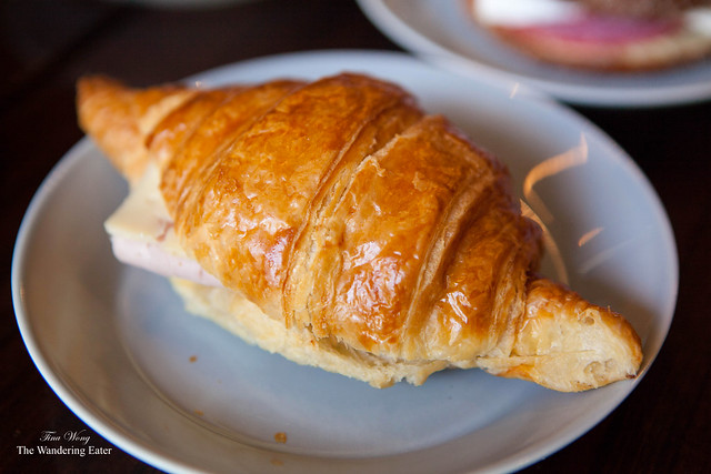 Cheese croissant sandwich