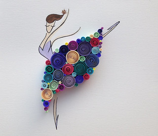 Quilled Dancing Queen | by all things paper