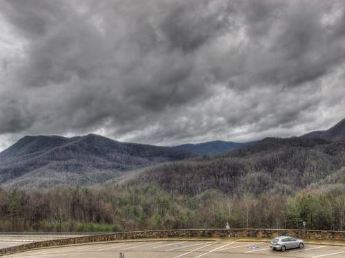 rain weather clouds landscape tennessee hdr mazda3 appalachians i26 photomatix