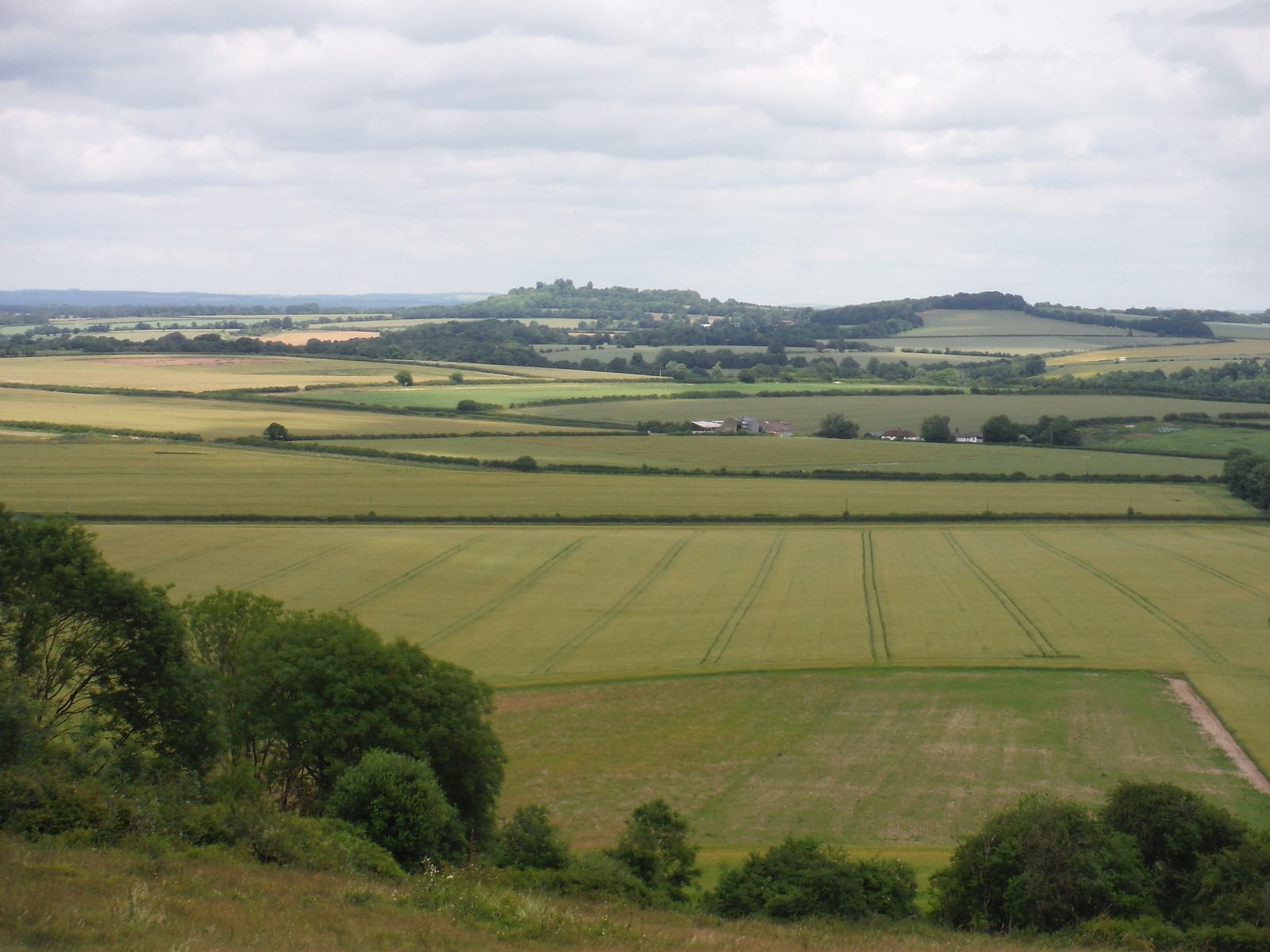 Danebury Hill, Wallop Brook Valley, from Broughton Down SWC Walk 265 - Dean to Mottisfont & Dunbridge
