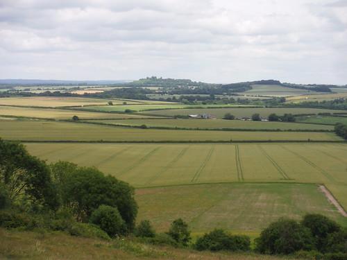 Danebury Hill, Wallop Brook Valley, from Broughton Down SWC Walk 265 - Dean to Mottisfont & Dunbridge