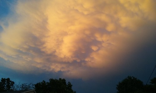 clouds sunset mammatus