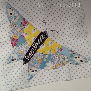 Butterfly for Marit #ringopie vintage Quilt block from Q is for Quilter