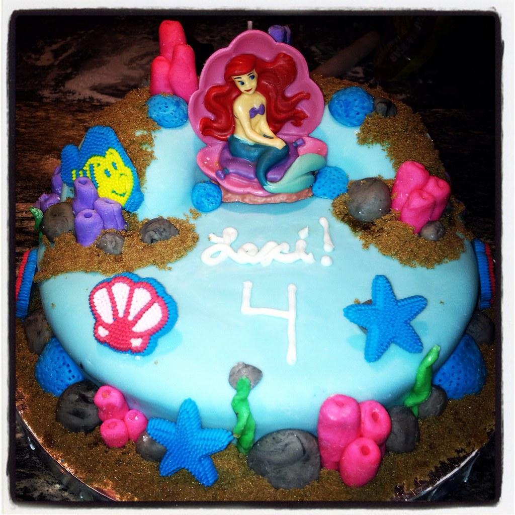 Fantastic Little Mermaid Birthday Cake My Daughters Birthday 8In Rou Flickr Birthday Cards Printable Trancafe Filternl