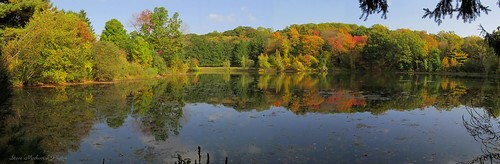 autumn panorama lake fall water canon reflections pond woods stream fallcolors powershot melodylake sx150is smack53