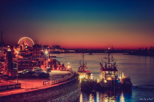 sunset boats ferriswheel littlelondon riverschelde m0nt2