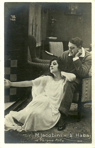 Maria Jacobini & André Habay in La vergine folle (1920)