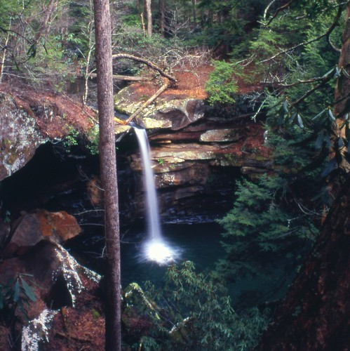 kentucky mckeeky waterfalls appalachia easternkentucky danielboonenationalforest minoltamaxxum7000 fujivelvia jacksoncountyky flatlickfalls tripod scenery