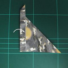 วิธีพับกระดาษเป็นรูปลูกสุนัข (แบบใช้กระดาษสองแผ่น) (Origami Dog) 028
