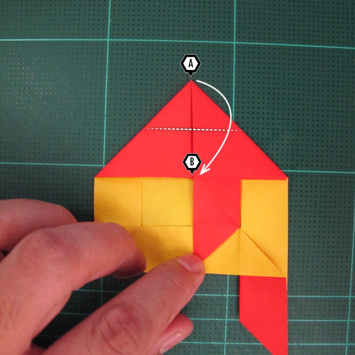 สอนวิธีพับกระดาษเป็นดอกกุหลาบ (แบบฐานกังหัน) (Origami Rose - Evi Binzinger) 012