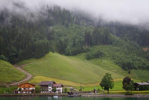 alps landscape austria tyrol pertisau lakeachen