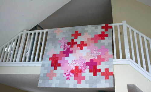 Pink Pluses Quilt Top | by Everyday Fray