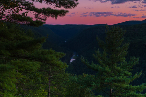 sunset mountain mountains pine forest sunrise canon river landscape eos pennsylvania grandcanyon jim 7d truscott