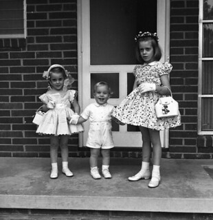 Unidentified children dressed for Easter in Tallahassee, Florida