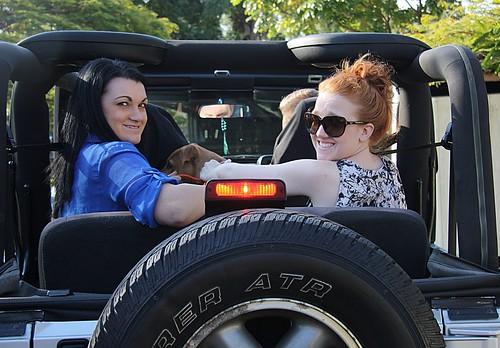 sarah ashley bella fathersday stefanie wrangler drivecarefully