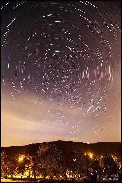 Star trails near Worm-s Cottage shelter