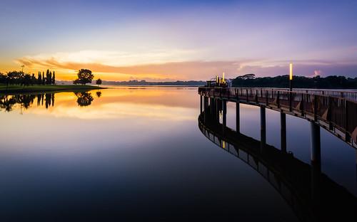 reflection sunrise reservoir lower seletar