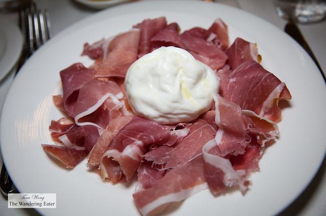 Proscuitto and Burrata